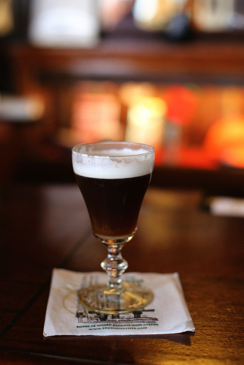 irish coffee at buena vista california