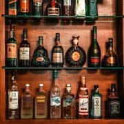 assorted bottles of liquor on shelf