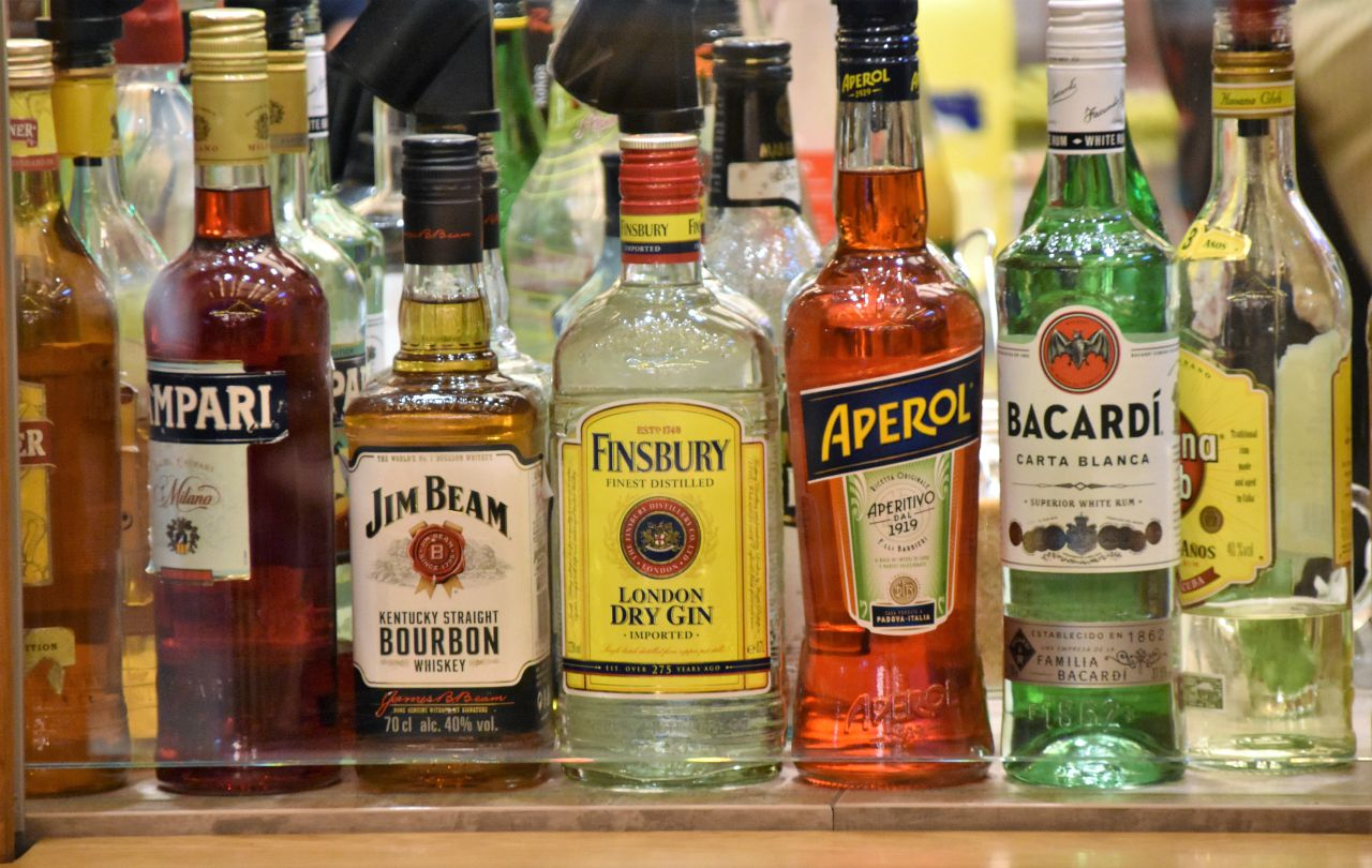 assorted bottles of spirits and liquors
