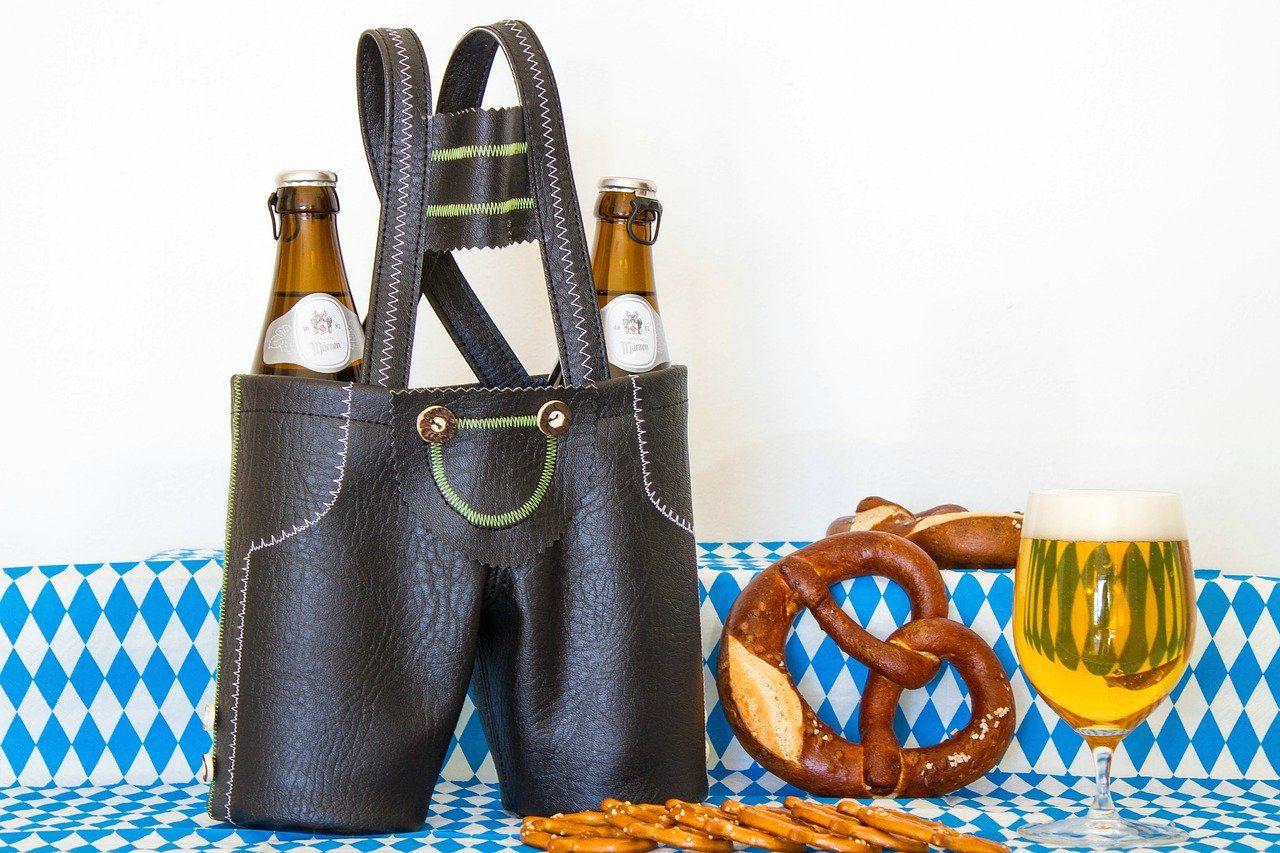 octoberfest essentials pretzel beer germany